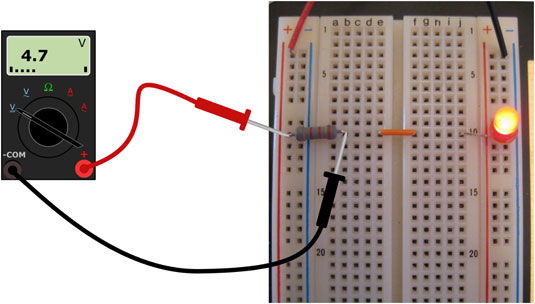 Measure the voltage across the resistor.