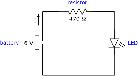 The resistor limits the amount of current, <i></noscript>I</i>, flowing into sensitive components, such as the&#8221; width=&#8221;535&#8243;/></p> <div class=
