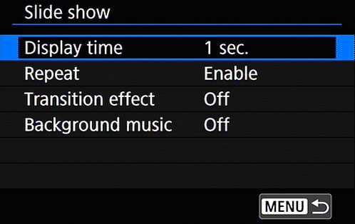 Use these four options to ­specify your playback preferences.