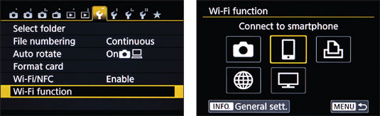 Launch Wi‐Fi connections from this main control screen.