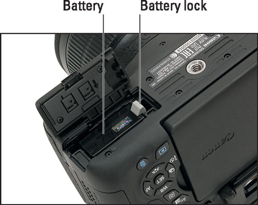 Push the battery down until it clicks in place.