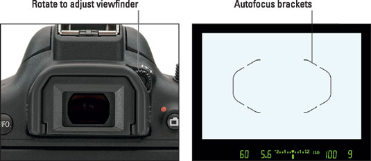 Use this dial to adjust the viewfinder focus to your eyesight.