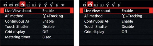 Before you can use the monitor to compose your images, you must set the Live View Shooting option t