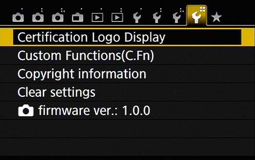 To display Setup Menu 4, you must set the Mode dial to P, Tv, Av, or M.