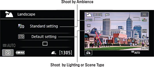 These settings enable you to adjust picture color, contrast, sharpness, and exposure when shooting