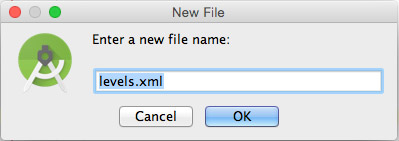 The New File dialog box.
