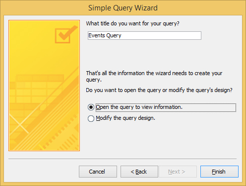 You can modify an Access query's design in the Simple Query Wizard.
