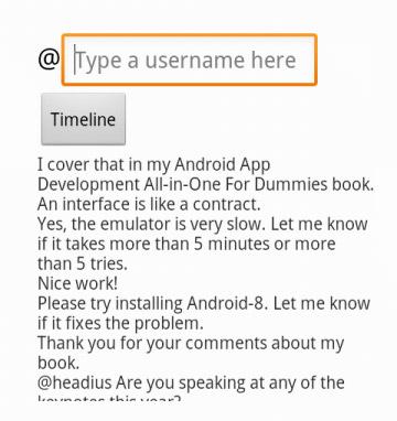 A user's timeline.