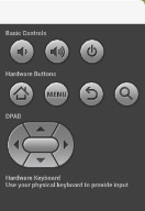 An Android TV emulator's buttons.