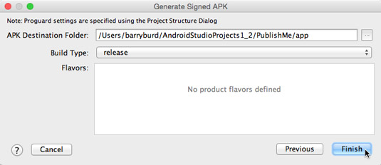 How to Create a Publishable APK File for Your Android App - dummies