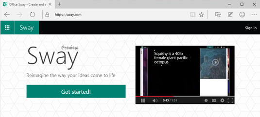 Many people don't realize it, but the presentation app called Microsoft Sway is, in fact, built on