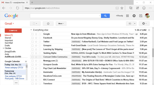 Gmail used as your email program.