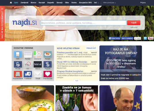 Nadji.si is a Slovenian search engine.