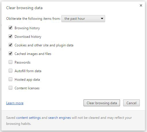 Figure 1: Nuke your browsing data.