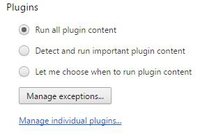 Figure 5: Plug in and expand Chrome's functionality.