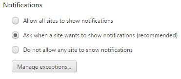 Figure 8: Get notified by web sites.