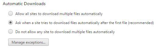 Figure 14: Prevent unauthorized downloads.