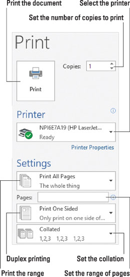 How to Print a Range of Pages in Word 2016 - dummies