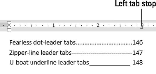 Leader tab styles.