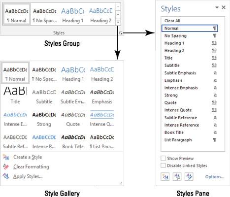 Where Word styles lurk.