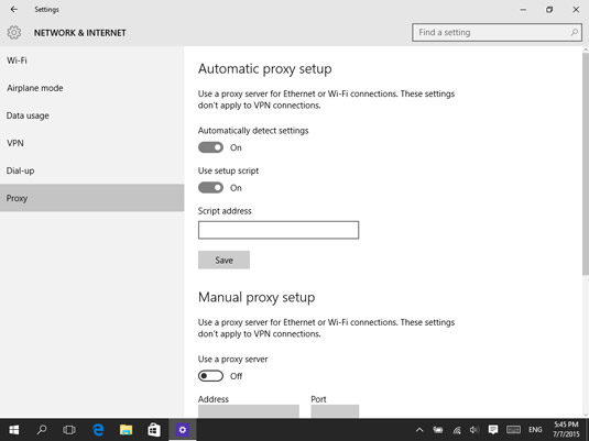 How to Set Up a Proxy in Windows 10 - dummies