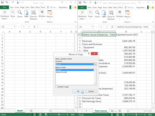 How to move worksheets to other workbooks in excel 2016 dummies use the move or copy dialog box to move or copy from the current workbook into ibookread ePUb