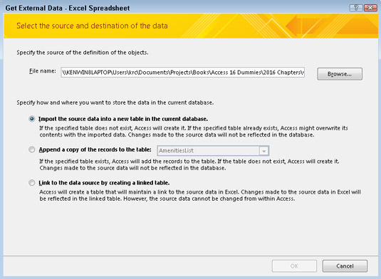 How to Import Data into Access 2016 - dummies