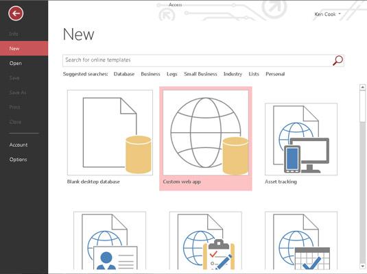 How to Create an Access Web App - dummies