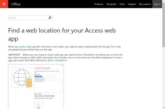 Don't have a web location yet? Check out your options here.