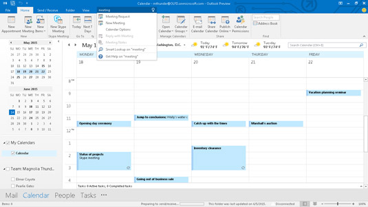 Outlook shows you how to do what you need to do.