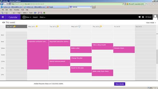 Your calendar displays your appointments.