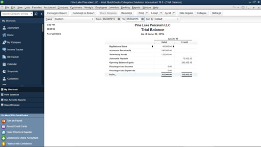 Another sample trial balance.
