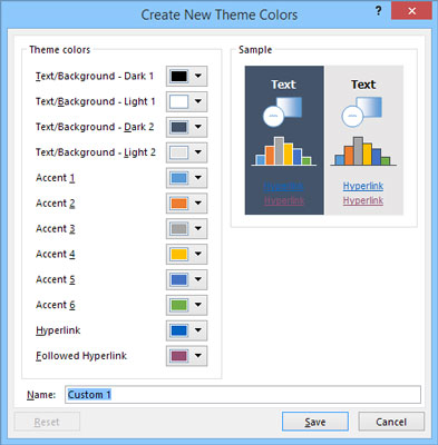 Creating new theme colors.