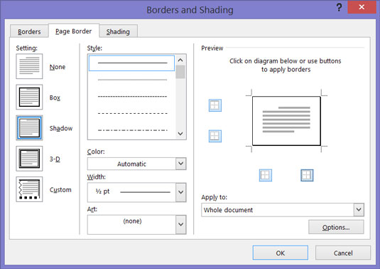 How to Add a Border to a Page in Word 2016 - dummies