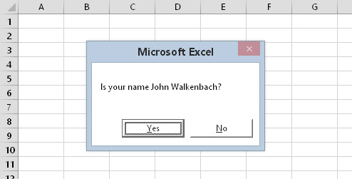The GuessName procedure displays this dialog box.
