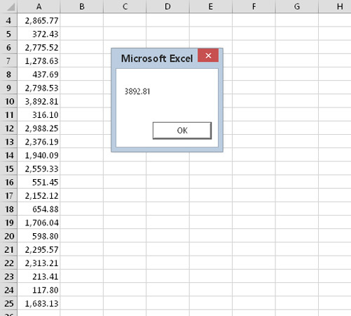 How To Use Vba Worksheet Functions In Excel 2016 Dummies. Using A Worksheet Function In Your Vba Code. Worksheet. Vba Worksheetfunction Average Exle At Mspartners.co