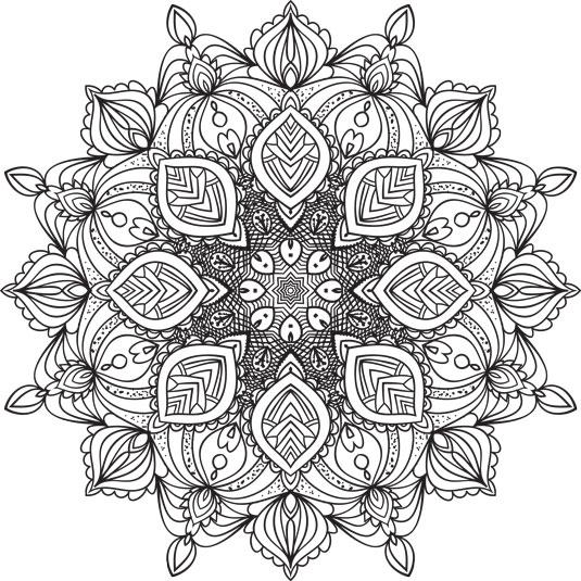 5 Mandalas To Color Dummies