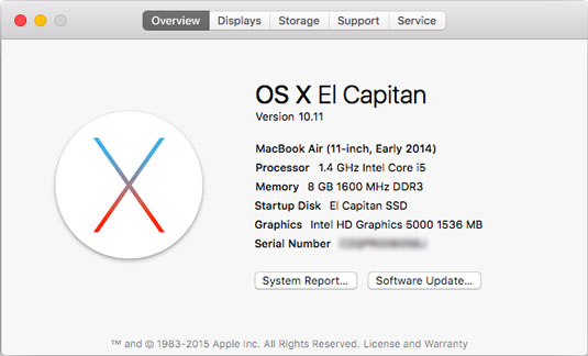 See which version of OS X you're running.