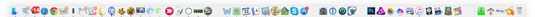 Los iconos de las aplicaciones más utilizadas se encuentran en el Dock.