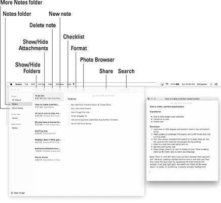 Notes is for making notes on your Mac.