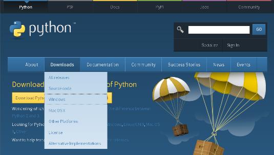 "<b/></noscript>Figure <b>2:</b> Download Python with Internet Explorer."" width=""535″/> <div class="