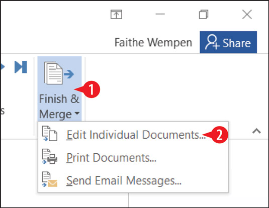 Choose to edit individual documents.