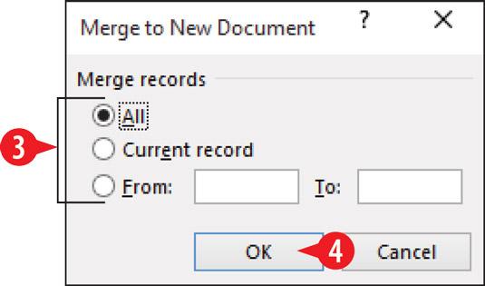 Choose a range of records.