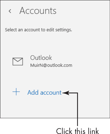 how to set up outlook account in windows 10