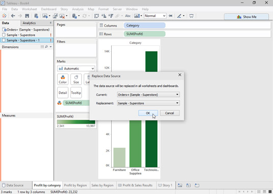 How to Replace a Data Source in Tableau - dummies