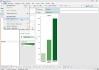Replace Data box in Tableau allows you to choose the replacement data.