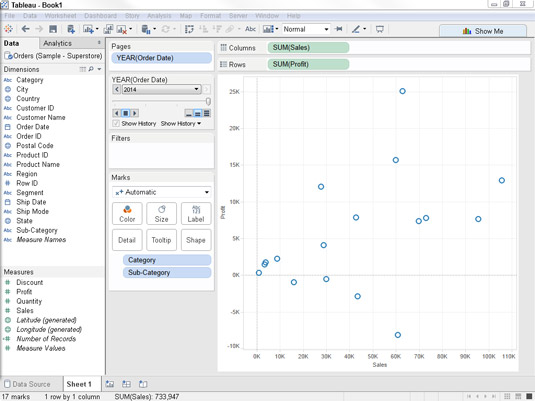 How to Use the Pages Shelf in Tableau - dummies