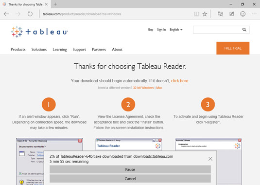 how to use tableau reader