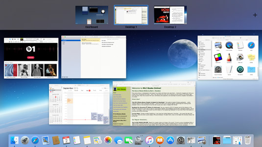 Mission Control is the desktop manager in El Capitan.