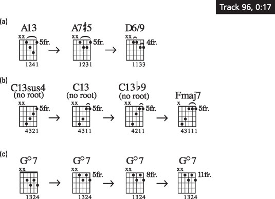 Typical outside chord moves.